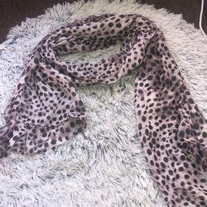 Animal print looking scarf